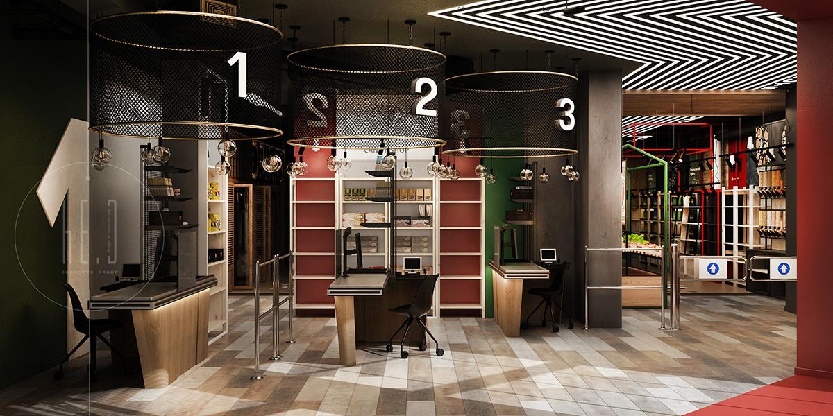 дизайн интерьера супермаркета минск