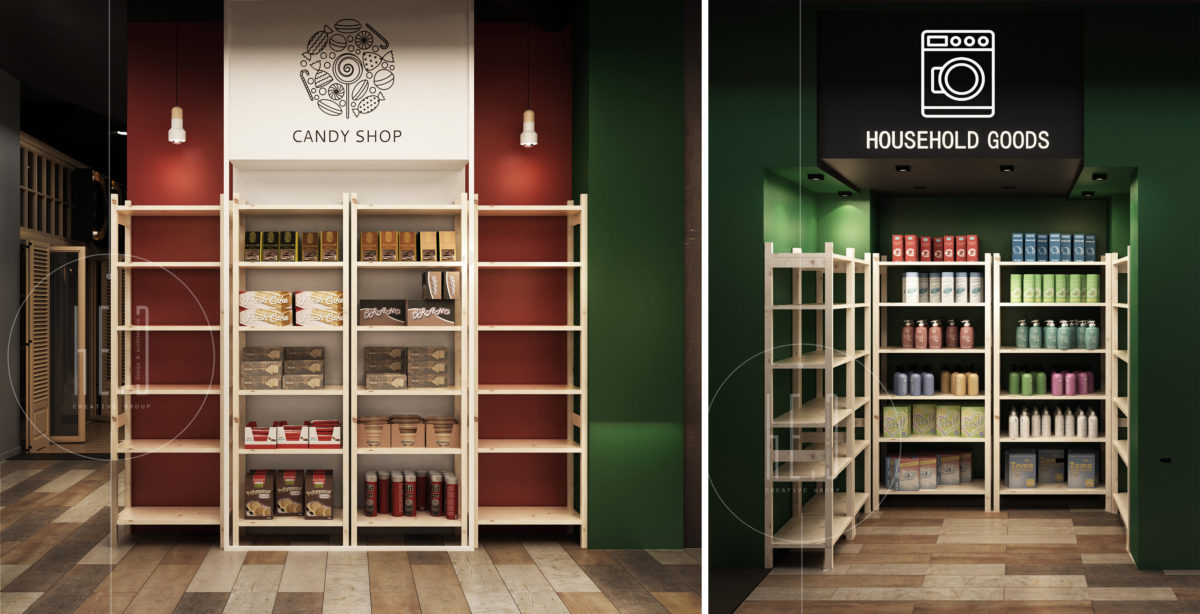 дизайн интерьера супермаркета foodboard минск
