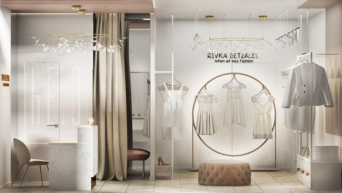 дизайн интерьера женского магазина