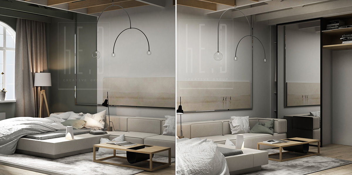 дизайн интерьера гостевой комнаты в светлых тонах