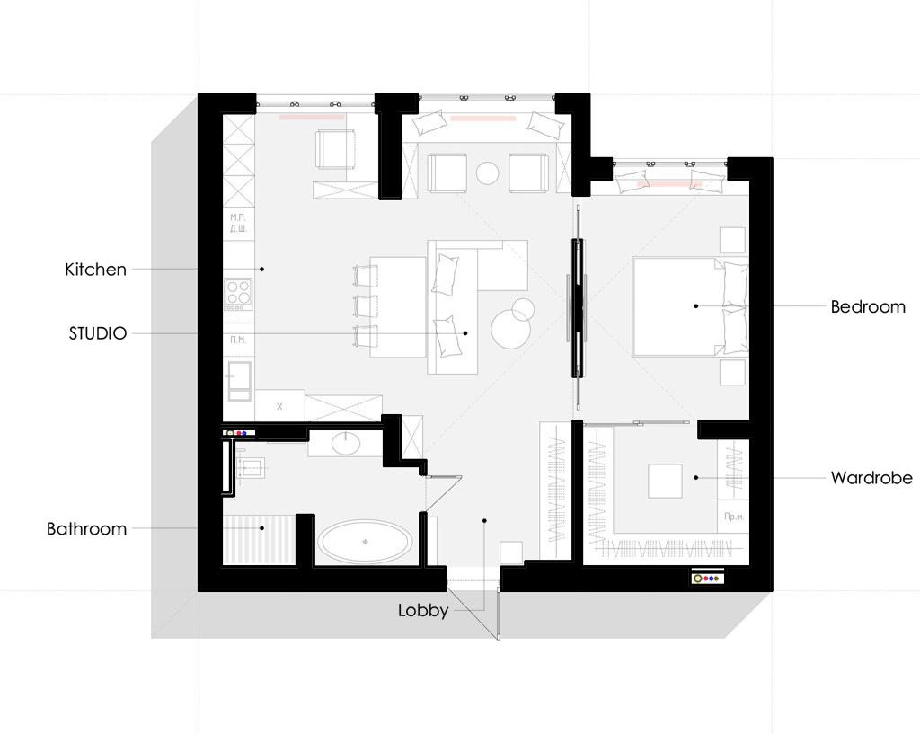 план размещения мебели квартиры