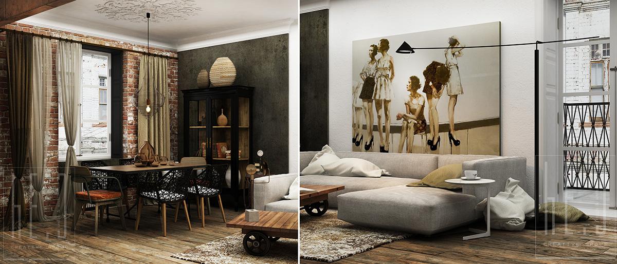дизайн интерьеров гостиной