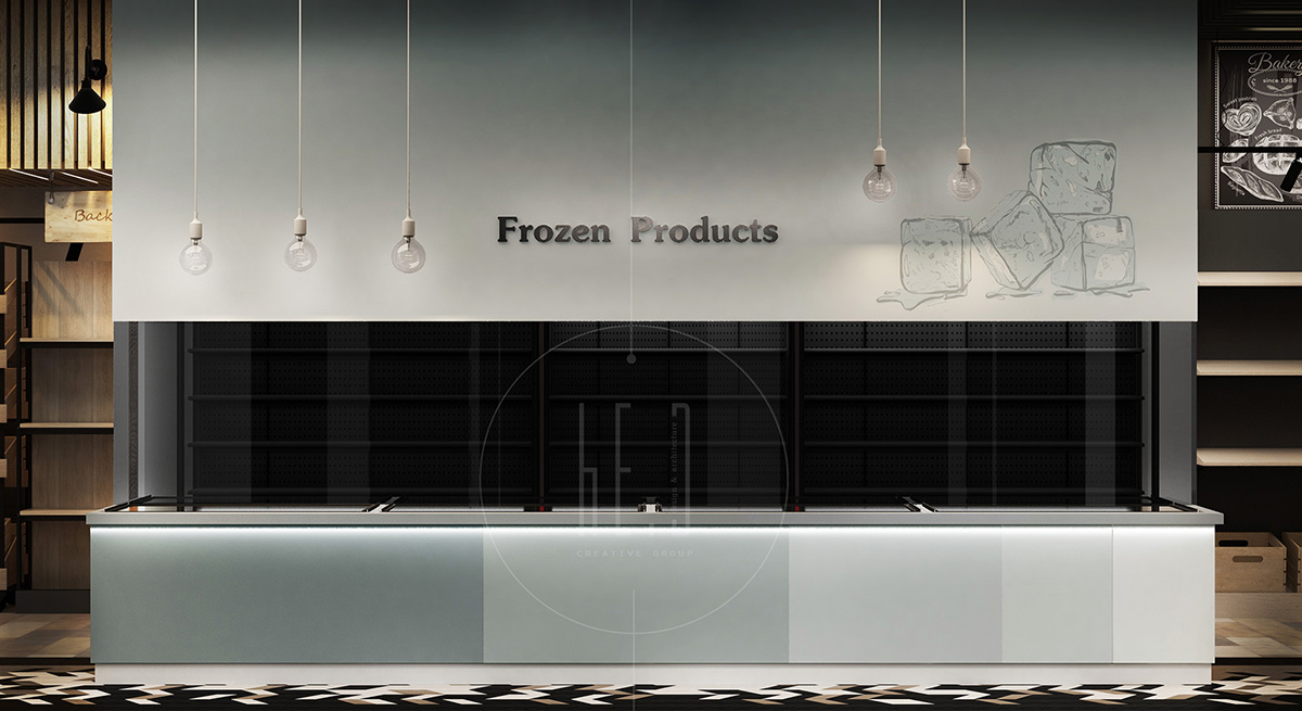 дизайн интерьера супермаркета