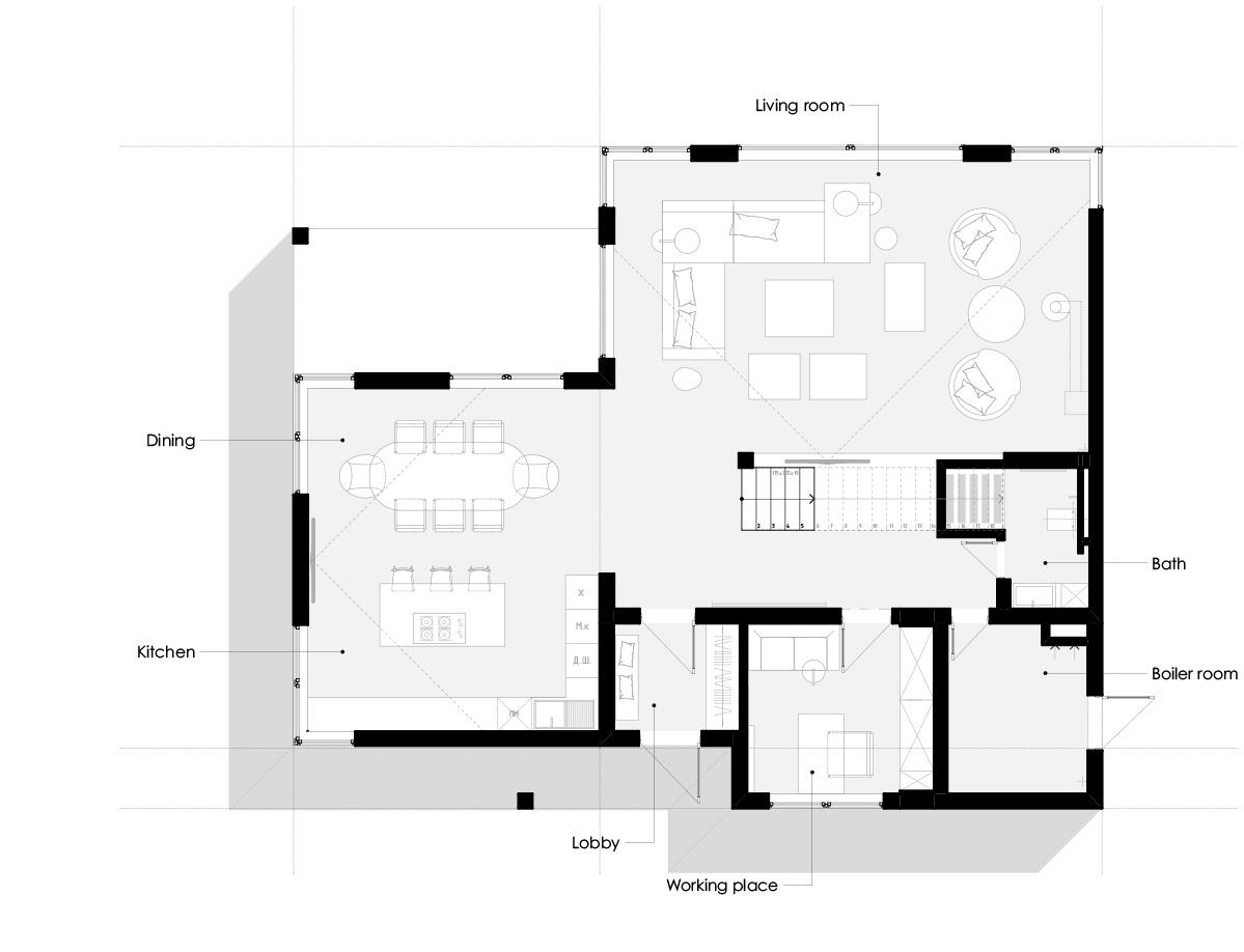 дизайн интерьера-зонирование
